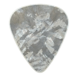 Black Ink on White Background #2 Pearl Celluloid Guitar Pick