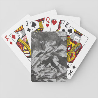 Black Ink on White Background #2 Playing Cards