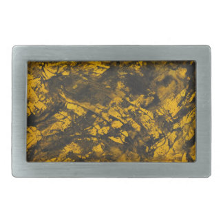 Black Ink on Yellow Background Belt Buckle