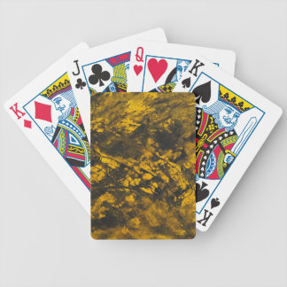 Black Ink on Yellow Background Bicycle Playing Cards