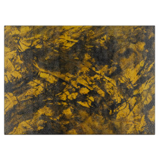 Black Ink on Yellow Background Cutting Board