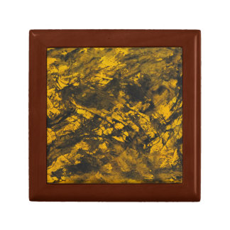 Black Ink on Yellow Background Gift Box