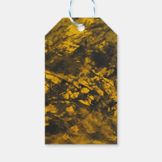 Black Ink on Yellow Background Gift Tags