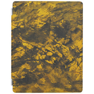 Black Ink on Yellow Background iPad Cover