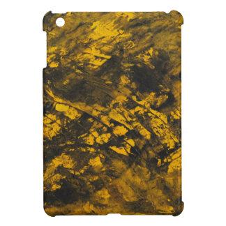 Black Ink on Yellow Background iPad Mini Cover