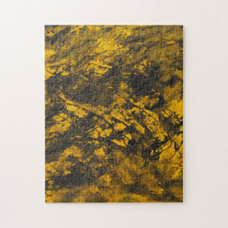 Black Ink on Yellow Background Jigsaw Puzzle