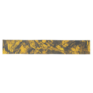 Black Ink on Yellow Background Long Table Runner