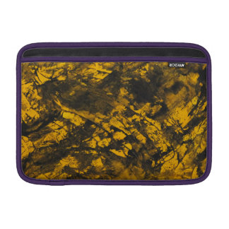 Black Ink on Yellow Background MacBook Sleeve