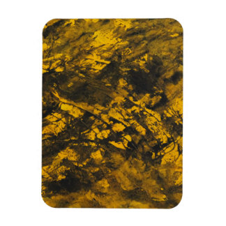 Black Ink on Yellow Background Magnet