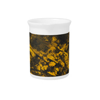 Black Ink on Yellow Background Pitcher