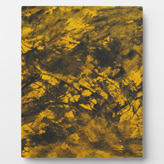 Black Ink on Yellow Background Plaque