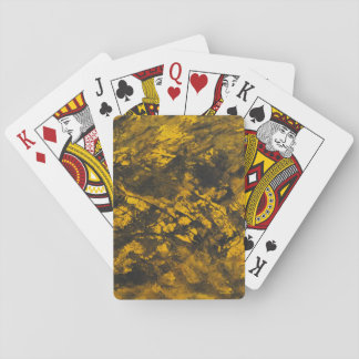 Black Ink on Yellow Background Playing Cards