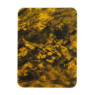 Black Ink on Yellow Background Rectangular Photo Magnet
