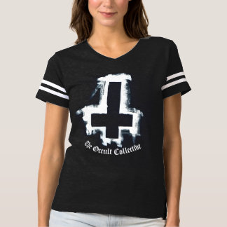 Black Inverted Cross Football Jersey Tshirt