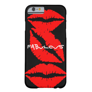 Black iPhone 6 case with Red Lips