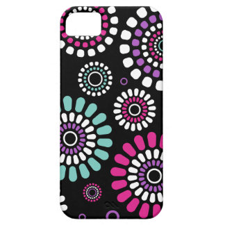 Black Iphone layer IF Black Flowers of Primavera Case For The iPhone 5