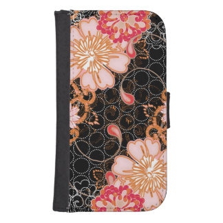 Black iPhone Samsung Galaxy S4 Wallet Case