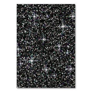 Black iridescent glitter card