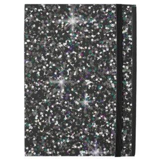 "Black iridescent glitter iPad pro 12.9"" case"