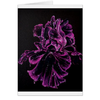 Black Iris Card