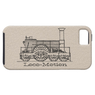 "Black ""Iron Horse"" Train Print 2 on Leather iPhone 5 Cases"