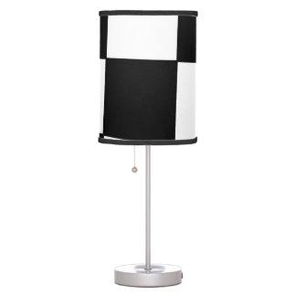 Black irregular chess desk lamp