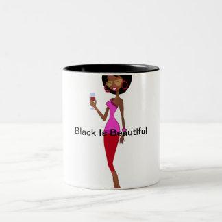 Black is Beautiful Two-Tone Coffee Mug