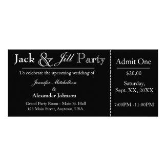 Black Jack and Jill Shower Ticket Invitation