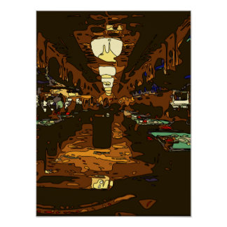 Black Jack and Poker Tables in Las Vegas Posters