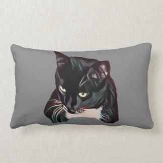Black Jack cat pillow