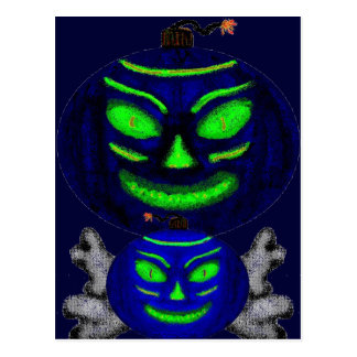 Black Jack-o-Lanterns Post Card