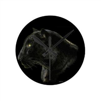 Black Jaguar Big Cat Animal-Lover's Wall Clock