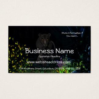 Black Jaguar in the Woods Business Cards