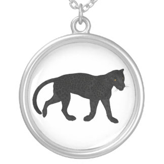 Black Jaguar Silver Plated Necklace