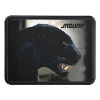 Black Jaguar Wild Cat Artwork Trailer Hitch Cover