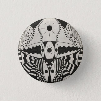Black Jaw 1 Inch Round Button
