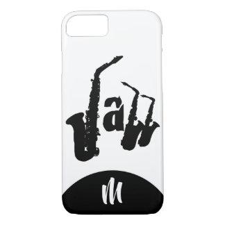 Black Jazz Sax Choose color Monogram Iphone Case