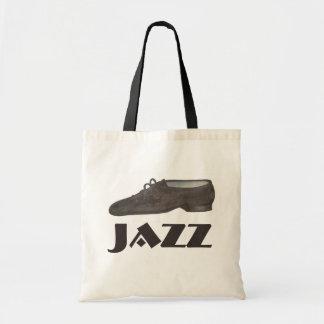 Black Jazz Shoe Dance Teacher Dancer Tote Bag