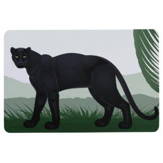 Black Jungle Panther Floor Mat