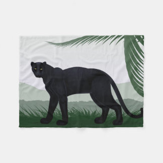 Black Jungle Panther Small Fleece Blanket