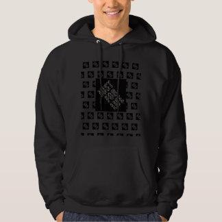 BLACK JUST FOR LIFE, basic, White Tee-shirt Hoodie