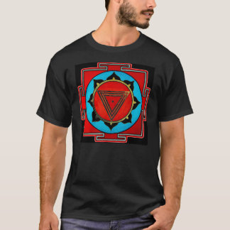 Black Kali Yantra T Shirt