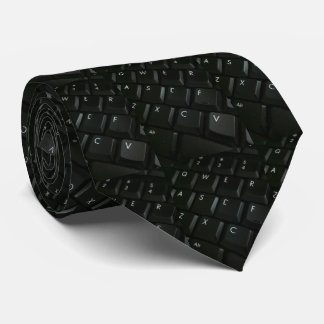 Black-Keyboard Geek Tie