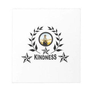black kindness stamp notepad