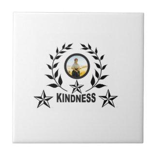 black kindness stamp tile