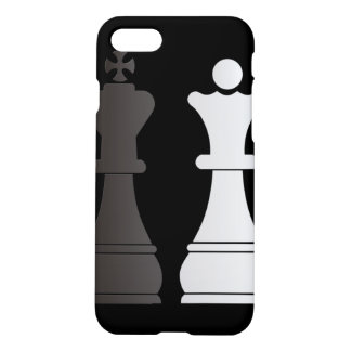 Black king white queen chess pieces iPhone 7 case