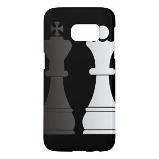 Black king white queen chess pieces samsung galaxy s7 case
