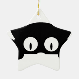 black kitten good looking black color ceramic star ornament