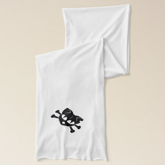 BLACK KITTY SKULL American Apparel  Jersey Scarf