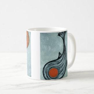 black koi coffee mug